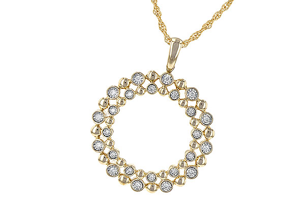 H245-23014: NECKLACE .12 TW